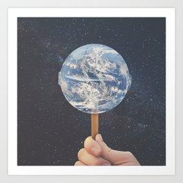 Lollipop Globe Art Print