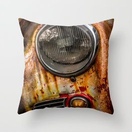 Rusty old Porsche Throw Pillow