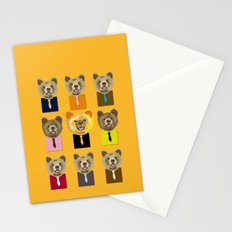Little bear with tie Stationery Cards