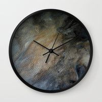 postcard Wall Clocks featuring postcard oracle by Imagery by dianna