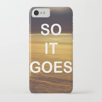 vonnegut iPhone & iPod Cases featuring Kurt Vonnegut - So It Goes - typography Word Art Print - inspirational quotes by BEANLAND