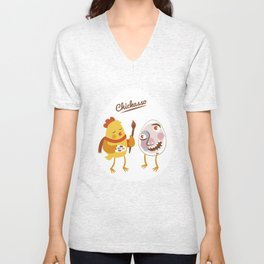 Chickasso Unisex V-Neck