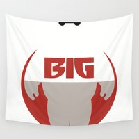 big hero 6 Wall Tapestries featuring Baymax Big - Big Hero 6 by Dwieta Kreavi