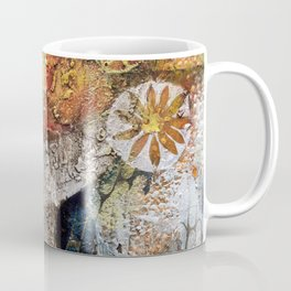 Materic composition of yellows and oranges Coffee Mug