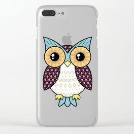 Fancy owl Clear iPhone Case