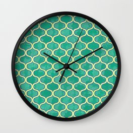 Watercolor Lovely Pattern VVV Wall Clock
