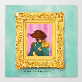 Dachshund the Romantique Canvas Print