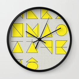 'ㄱ,ㄴ,ㄷ,ㄹ' (Korean Alphabet-Yellow) Wall Clock