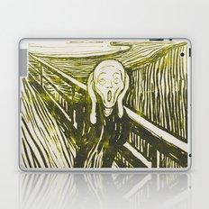 The Scream's Haze (yellow) Laptop & iPad Skin
