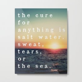 The Cure is the Sea Photo Print Metal Print