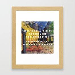 Horchata at Night Framed Art Print