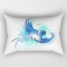 Watercolor Blue Bird Rectangular Pillow