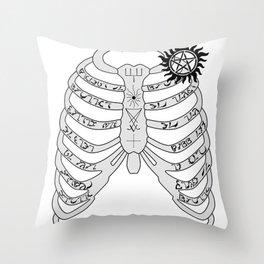 Supernatural - Dean Winchester's Ribcage Throw Pillow