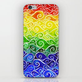 Rainbow Water Waves iPhone Skin