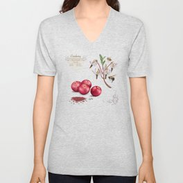 Cranberry and Pollinators Unisex V-Neck