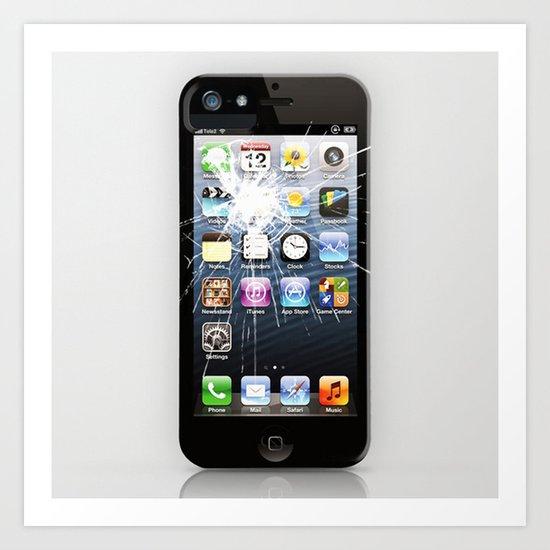 iPhone5 Broken Art Print