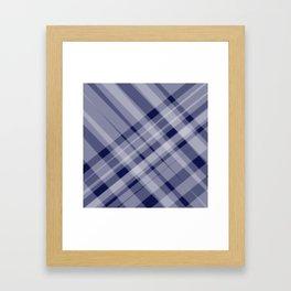 blue and white picnic Framed Art Print