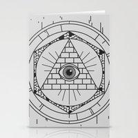 illuminati Stationery Cards featuring Illuminati by Joao Paulo Cruz