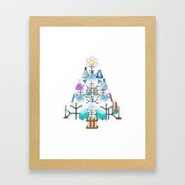 Oh Chemistry, Oh Chemist Tree Framed Art Print