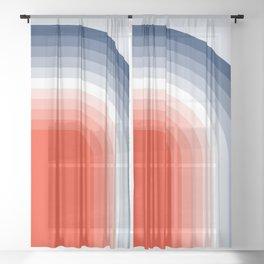 70s Stripes Rainbow Sheer Curtain
