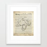beethoven Framed Art Prints featuring Beethoven by bananabread