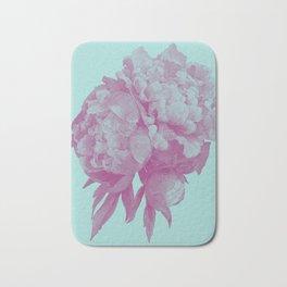 Pink peony flower illustration Bath Mat