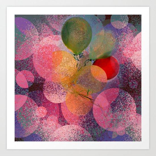 BALLOON LOVE  - Wish to be Happy Art Print