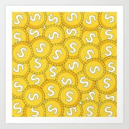 MONEY: Coins Art Print