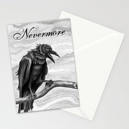Nevermore Raven Pen & Ink Art Stationery Cards
