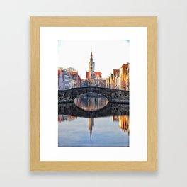 Belgium, City Canal 6 Framed Art Print