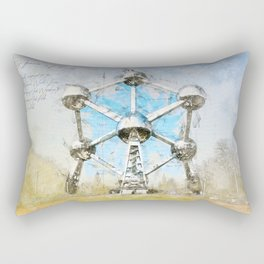 Atomium Brussels, Belgium Rectangular Pillow
