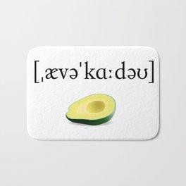 Avocado Phonetic Bath Mat