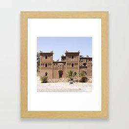 Kasbah in Morocco Framed Art Print