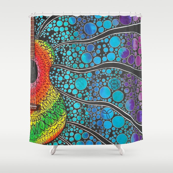 A Strum Of Peace Shower Curtain
