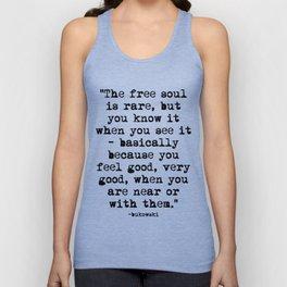 Charles Bukowski Typewriter Quote Free Soul Unisex Tank Top
