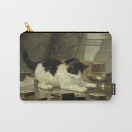 Henriette Ronner - The Cat At Play. Carry-All Pouch