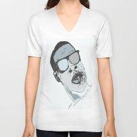 jay z V-neck T-shirts featuring Jay Z. by BlvckBewty