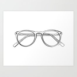 Spectacles Art Print