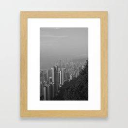 Hong Kong Island View Framed Art Print