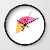 parrot Wall Clocks featuring Parrot by Volkan Dalyan