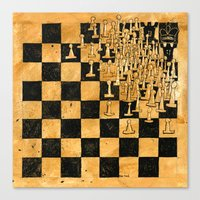 chess Canvas Prints featuring Chess by Tim Reed