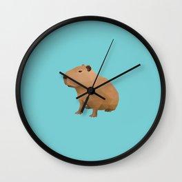 Capybara Polygon Art Wall Clock