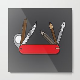 Designer's Swiss Knife Metal Print