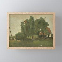 Farmstead, George Hendrik Breitner, c. 1880 - c. 1923 Framed Mini Art Print