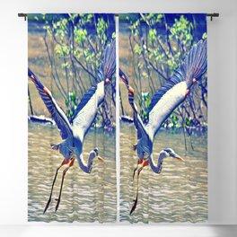 Flying (Blue Heron) Blackout Curtain