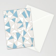 Ab Nude Lines with Blue Blocks Stationery Cards