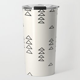 Minimalist Triangle Line Drawing Travel Mug