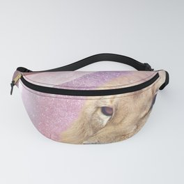 Lion King of the Universe - Surreal Collage Fanny Pack