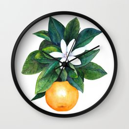 Citrus Flower Wall Clock