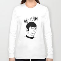 spock Long Sleeve T-shirts featuring Mister Spock by Emmanuelle Ly